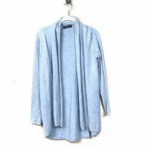 Zara knit blue open cardigan sweater
